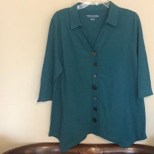 Pretty little teal shirt from Soft Surroundings!